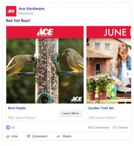 ACE Hardware Facebook Ad