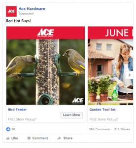 ACE Hardware Facebook Ad