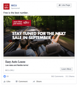 BECU Facebook Ad