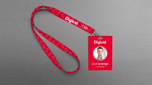 Digicel lanyard and ID card