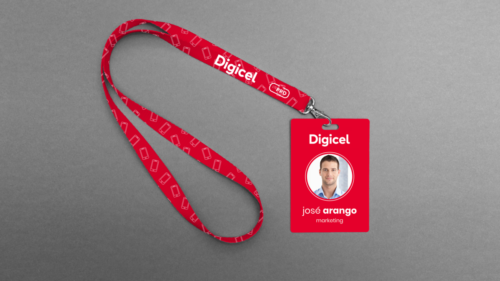 Digicel lanyard and ID card