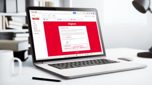 Digicel mass e-mail
